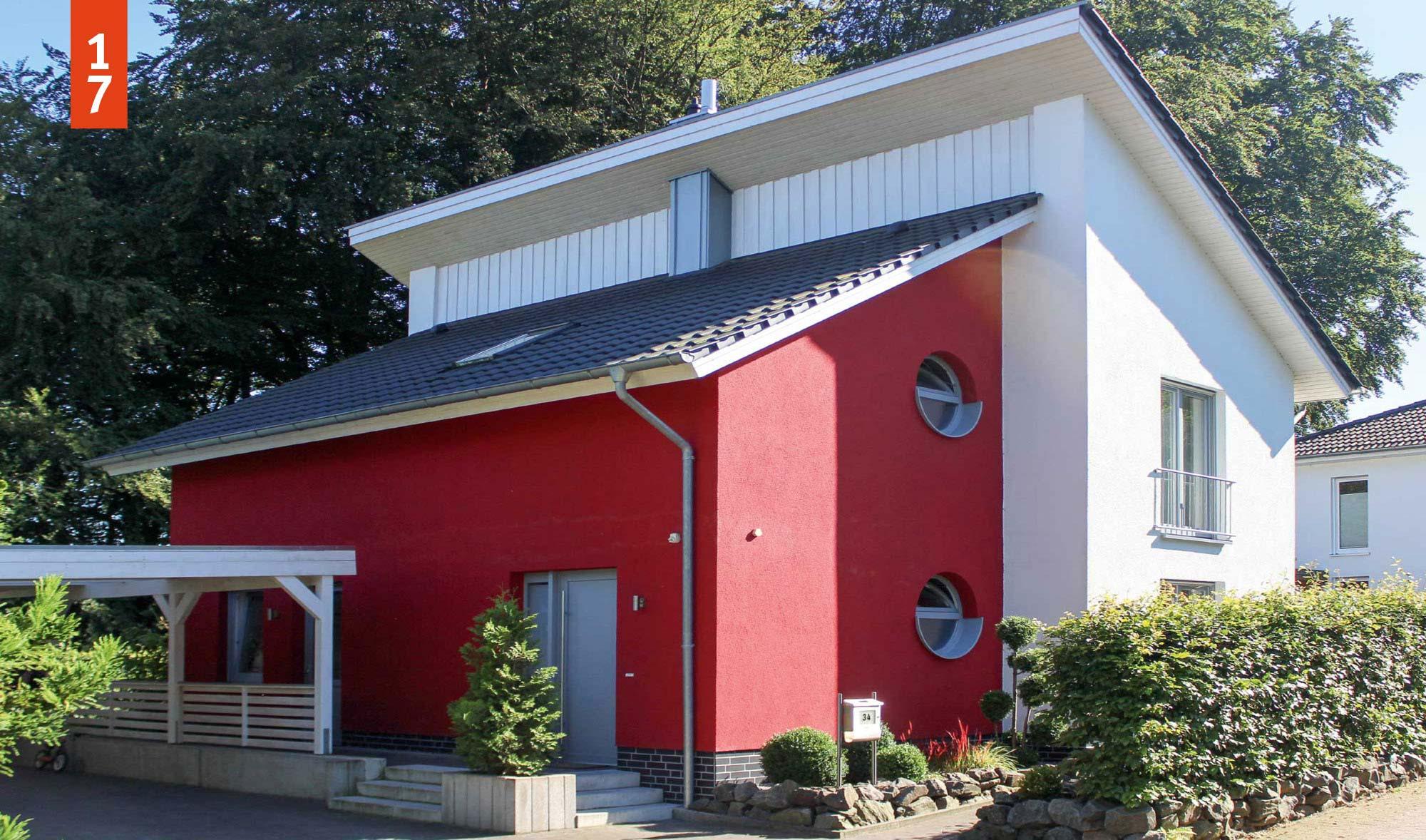 ambiente pultdachhaus 150 qm grundriss schl sselfertig bauen. Black Bedroom Furniture Sets. Home Design Ideas