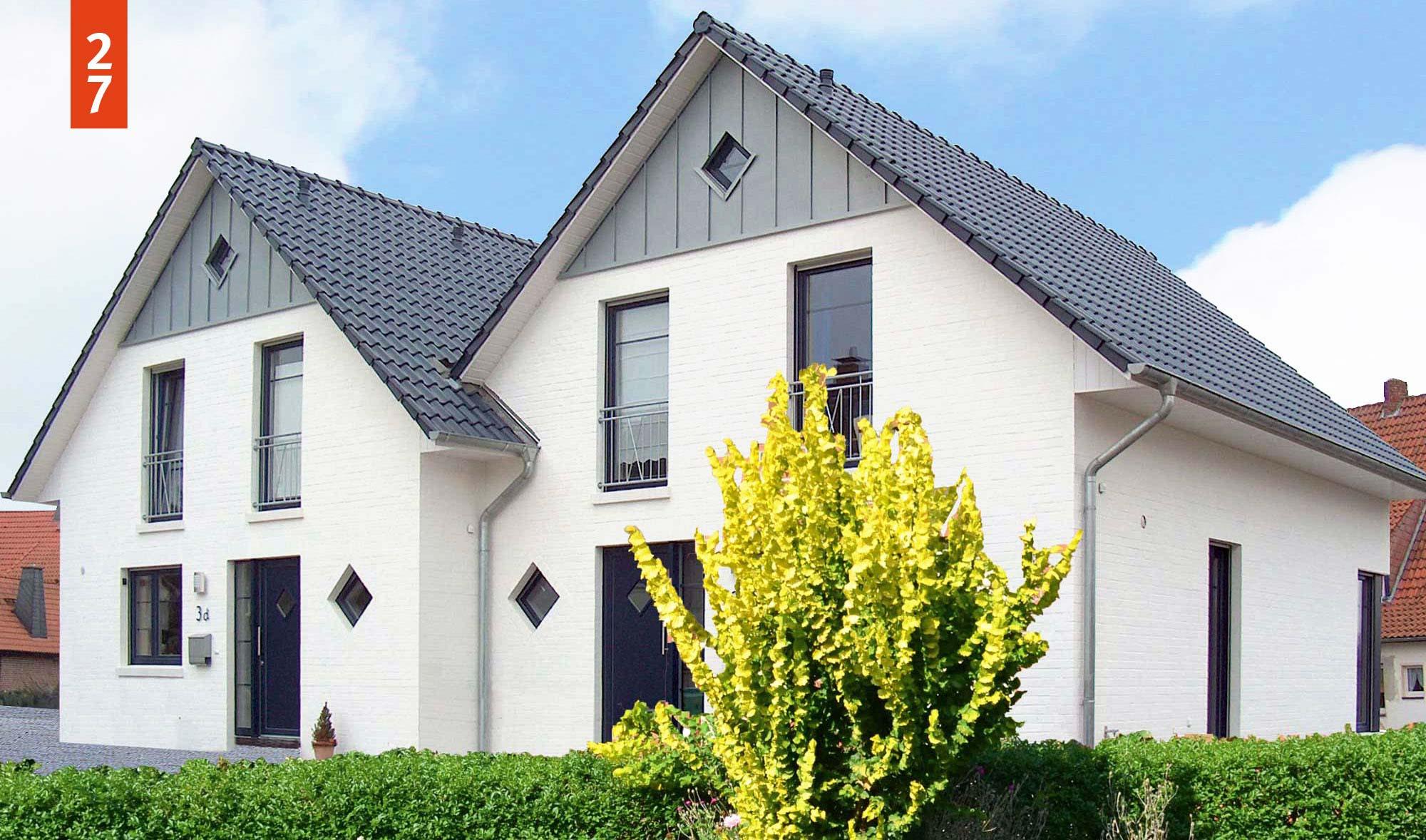 Doppelhaus Grundriss mit je 120 m² Wohnfläche