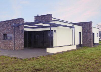 ein Flachdachhaus als Architektenhaus im Kreis Minden-Lübbecke