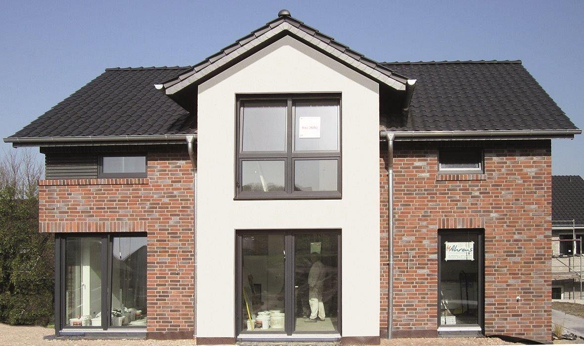 ein satteldachhaus mit 150 qm im landkreis osnabr ck mit hohem drempel als architektenhaus kalobau. Black Bedroom Furniture Sets. Home Design Ideas