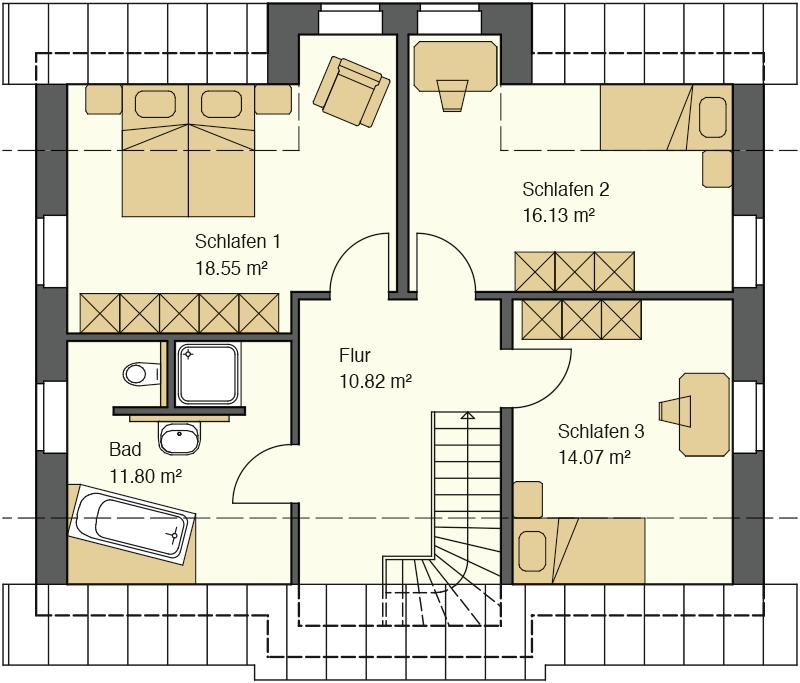 Friesenhaus Grundriss Erdgeschoss mit 94,52 m² Grundriss