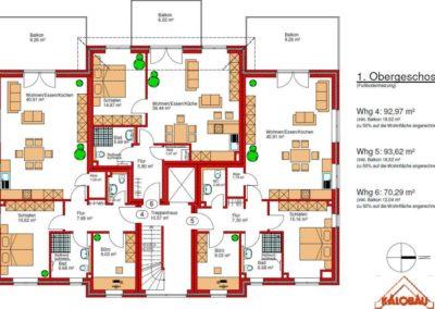 Mehrfamilienhaus Grundriss 1. Obergeschoss