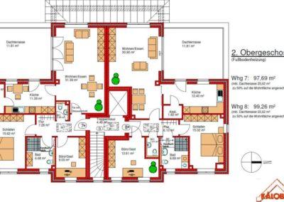 Mehrfamilienhaus Grundriss 2. Obergeschoss